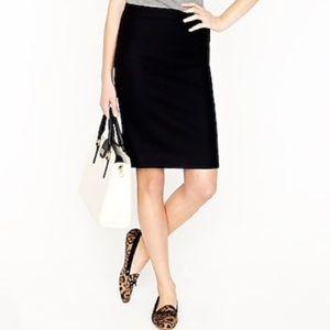 J. Crew No. 2 Wool Pencil Skirt Black Lined Sz 0